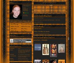 Orange & Black Plaid Layout - Plaid Myspace Theme - Plaid Design