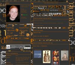 Black Halloween Myspace Layout - Halloween Theme - Halloween Design