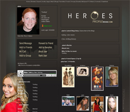 Heroes Myspace Layout- Claire Bennet Layout- Hayden Panettiere Layout