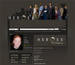 Heroes Myspace Layout - TV Show Theme - Heroes Background