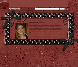 Maroon Flowers Hide Everything Layout - Purple & Black Short Layout