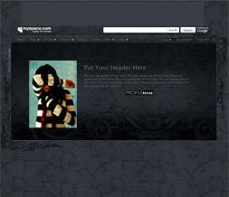 Victorian Pattern Hide Everything Layout - Black Goth Hide Everything Design