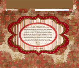 Red & Green Flowery Hide Everything Layout - Striped Polkadotted No Scroll Layout