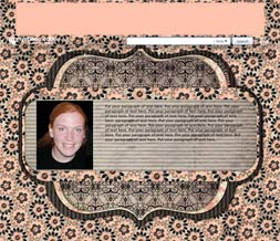 Pink & Black Hide Everything Layout - Black & Pink No Scroll Layout