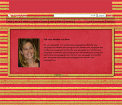 Pink & Green Stripes Hide Everything Layout - Green & Pink Myspace Theme