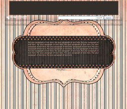 Polkadot Pink & Black Hide Everything Layout - Striped No Scroll Layout