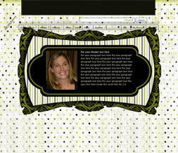 Green & Black Hide Everything Layout - Polka Dot No Scroll Layout