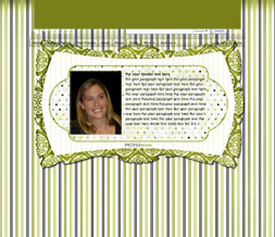 Free Green Hide Everything Layout - Striped No Scroll Design