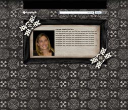 Black & White Hide Everything Layout - No Scroll Vintage Layout