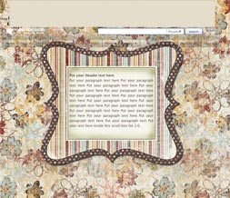 Striped Flower Hide Everything Layout - No Scroll Flower Layout