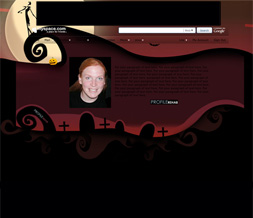 Nightmare Before Christmas Hide Everything Layout - Maroon No Scroll Layout