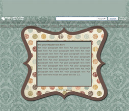 Brown & Blue Polkadot Hide Everything Layout - Blue & Brown No Scroll Layout