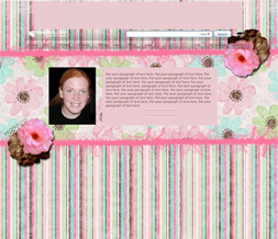 Pink & Brown Abstract Hide Everything Layout - Striped No Scroll Myspace Layout
