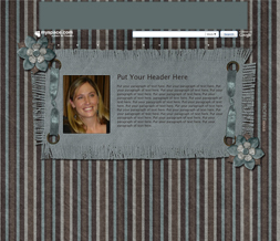 Blue & Brown Flower Hide Everything Layout -  Blue Hide Everything Theme