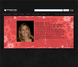 Free Pink & Black Hide Everything Layout - Flower No Scroll Layout
