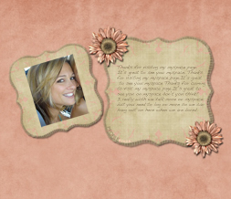 Pink Sunflower Hide Everything Layout - Pink & Beige Hide Everything Theme