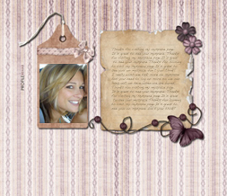 Purple Butterfly Hide Everything Layout- Purple Striped Hide Everything Theme