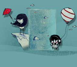 Cute Emo Drawing Hide Everything Layout-Emo Girl No Scroll Layout