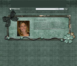 Blue Green Flowery Hide Everything Layout- Blue Vintage Hide Everything Theme