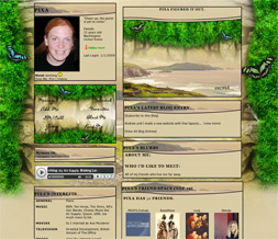 Ireland Beach & Butterfly Layout - Ireland Grass & Butterflies Myspace Layout