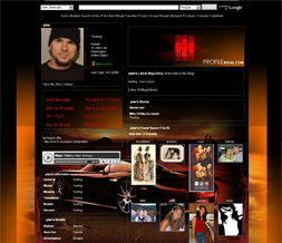 Knight Rider Myspace Layout - TV Show Background - KIT Theme Preview
