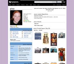 Plain Lavendar Default Myspace Layout - Solid Lavendar Default Layout