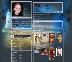 Lighthouse Myspace Layout- Scenic Theme- Summer Background for Myspace