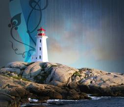 Lighthouse Myspace Theme - Scenic Background - Light House Layout