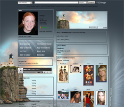 Lighthouse Layout - Scenic Myspace Theme - Summer Layouts