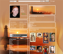 Sunset & Lighthouse Myspace Layout - Sunset Scenic Theme for Myspace