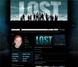 Lost Myspace Theme - TV Show Layouts - Lost Layout - Lost Background