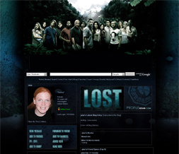 Blue & Black Lost Myspace Layout - TV Show Layouts - Lost Backgrounds