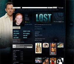 Lost Layout for Myspace - Ben Layout - Michael Emerson Theme