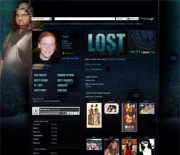 Lost Myspace Background - Hurley Layout - Jorge Garcia Theme