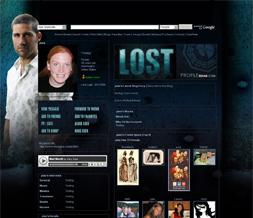 Lost Myspace Layout - Jack Layout - Matthew Fox Background