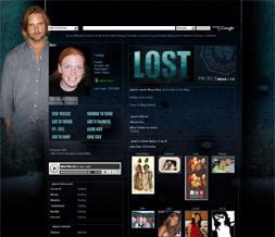 Lost Background for Myspace - Sawyer Layout - Josh Holloway Layout