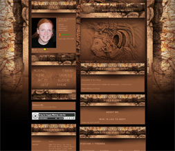 Ancient Mayans Myspace Layout- Brown Mayan Gods Theme for Myspace