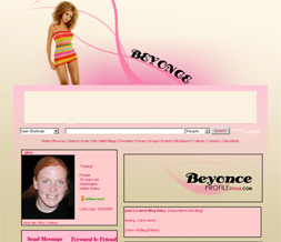 Best Beyonce Myspace Layout - Cool Beyonce Theme
