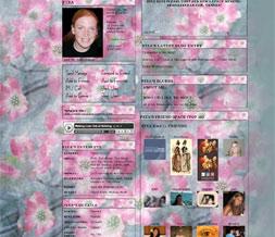 Pink Dogwood Myspace Layout-Dogwood Flower Layout-Dogwood Tree Theme Preview