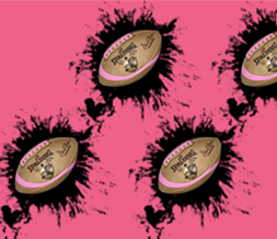 Black & Pink Football Twitter Background-Girly Football Background Preview