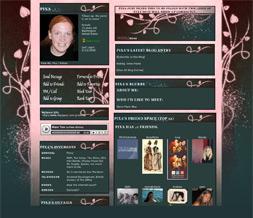 Pink Vintage Myspace Layout-  Pink & Blue Vintage Theme - Flowery Design