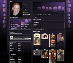 Pink & Purple Dots Myspace Layout - Purple & Pink Dotted Background