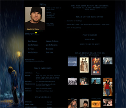 Blue Rainy Night Layout - Artsy Rain Layout - Artistic Rain Falling Theme