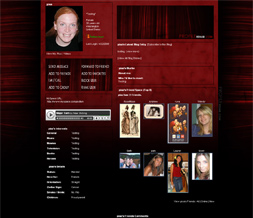 Red & Black Myspace Layout - Black & Red Myspace Theme Preview