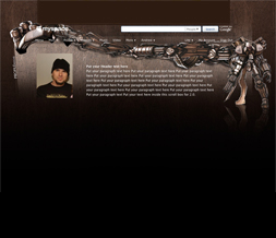 Robot Hide Everything Layout - Brown Robot No Scroll Layout Preview