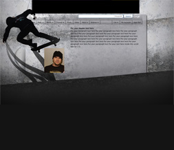 Skateboard Hide Everything Layout - Skateboarding Hide Everything Design Preview