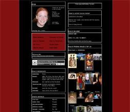 Black & Red Skinny Layout - Plain Black & Red Myspace Layout Preview