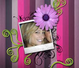 Retro Spring Layout - Cute Flower Myspace Layout - Retro Flower Theme
