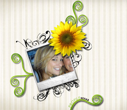 Sunflower Myspace Layout - Sunflower Theme