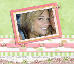 Green & Pink Spring Layout - Pretty Spring Myspace Theme - Pink Flower Design Preview